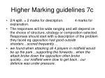 higher marking guidelines 7c