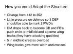 how you could adapt the structure