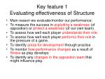 key feature 1 evaluating effectiveness of structure