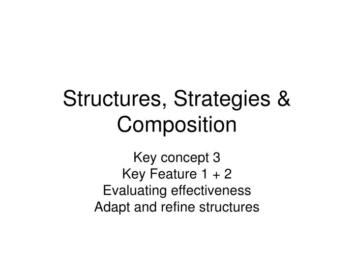 structures strategies composition n.