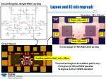 layout and ic micrograph