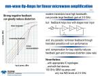 mm wave op amps for linear microwave amplification