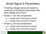 small signal s parameters
