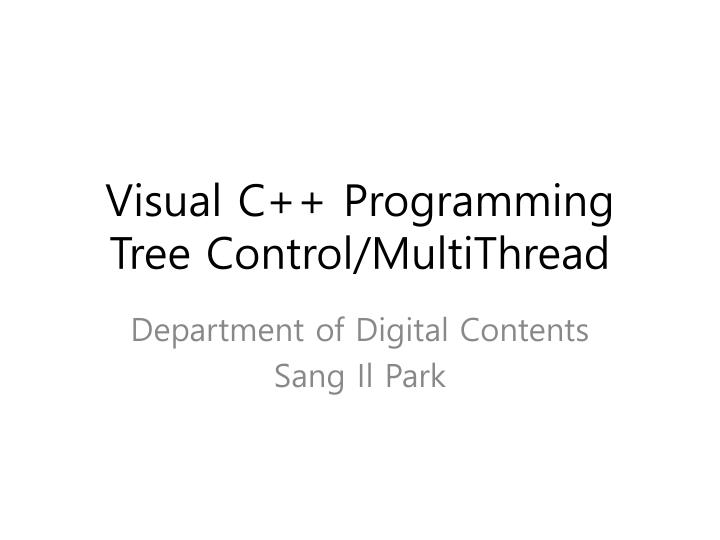 visual c programming tree control multithread n.