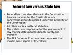 federal law versus state law