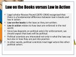law on the books versus law in action