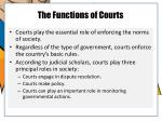 the functions of courts