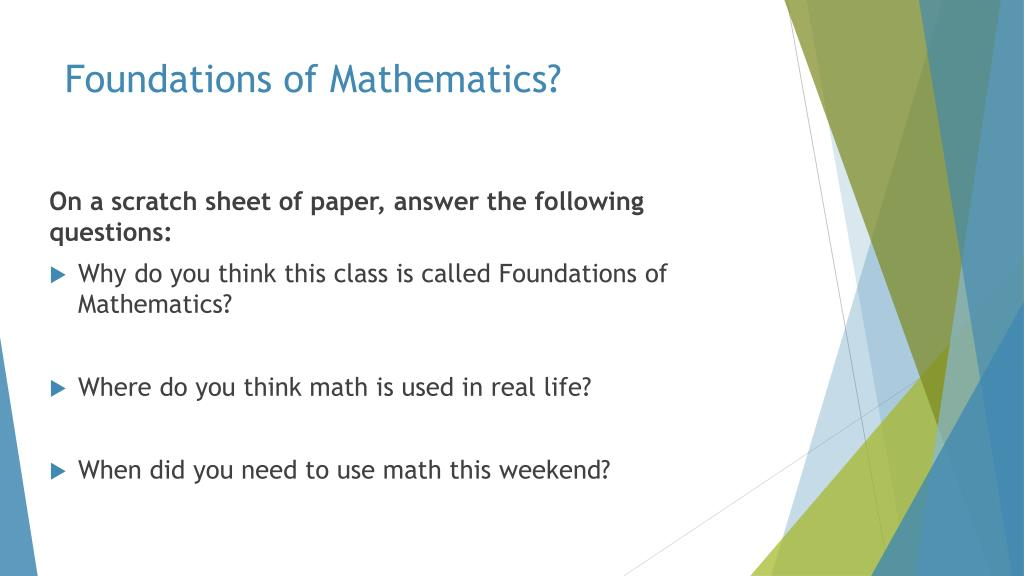 ppt foundations of mathematics powerpoint presentation id 6963517