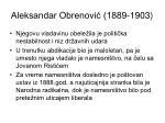 aleksandar obrenovi 1889 1903