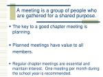 a meeting is a group of people who are gathered for a shared purpose