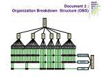 document 2 organization breakdown structure obs