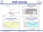 drift velocity