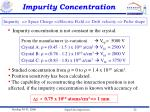 impurity concentration
