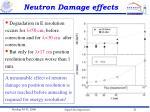 neutron damage effects