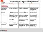 evaluering af digitale kompetencer