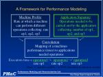 a framework for performance modeling