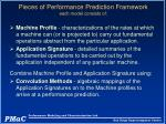pieces of performance prediction framework each model consists of