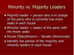 minority vs majority leaders