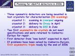 planning for agata detectors in 2006