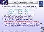 status of gamma ray tracking