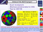 status of the agata project