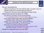 status of the agata project1