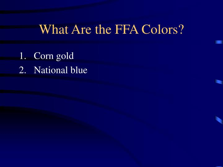 What Are the FFA Colors?