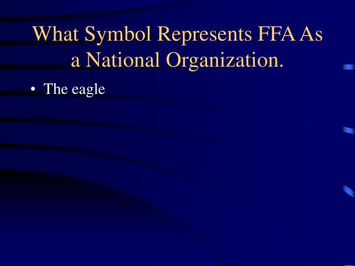 What Symbol Represents FFA As a National Organization.