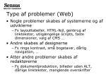 type af problemer web