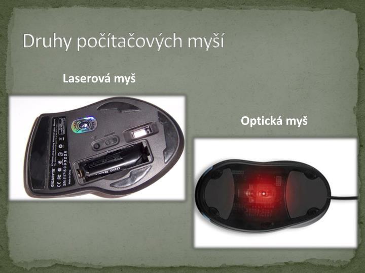 Druhy počítačových myší