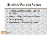 benefits to founding partners