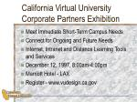 california virtual university corporate partners exhibition