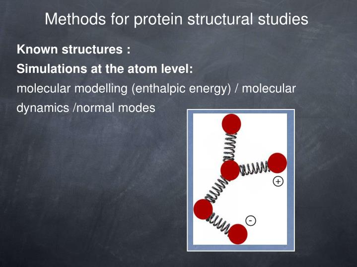 Methods for protein structural studies