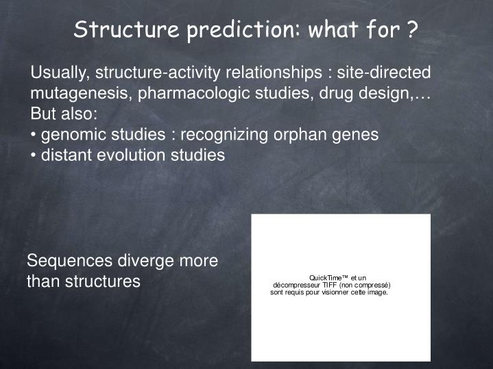 Structure prediction what for