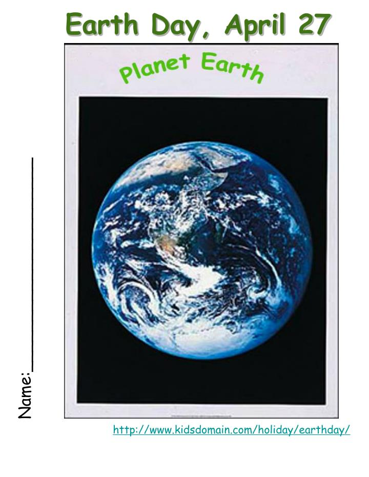 earth day april 27 n.