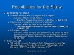 possibilities for the skew