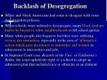 backlash of desegregation