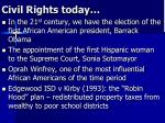 civil rights today