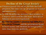 decline of the great society