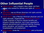 other influential people
