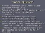 racial injustices