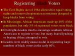 registering black voters