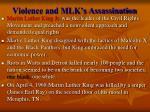 violence and mlk s assassination