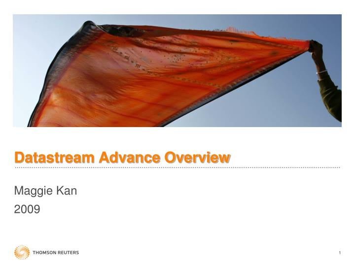 datastream advance overview n.
