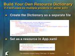 build your own resource dictionary if it will used by multiple projects in same soln