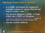 markup extension syntax