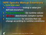wpf specific markup extensions most often used