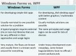 windows forms vs wpf