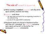 the use of scanf cont d1