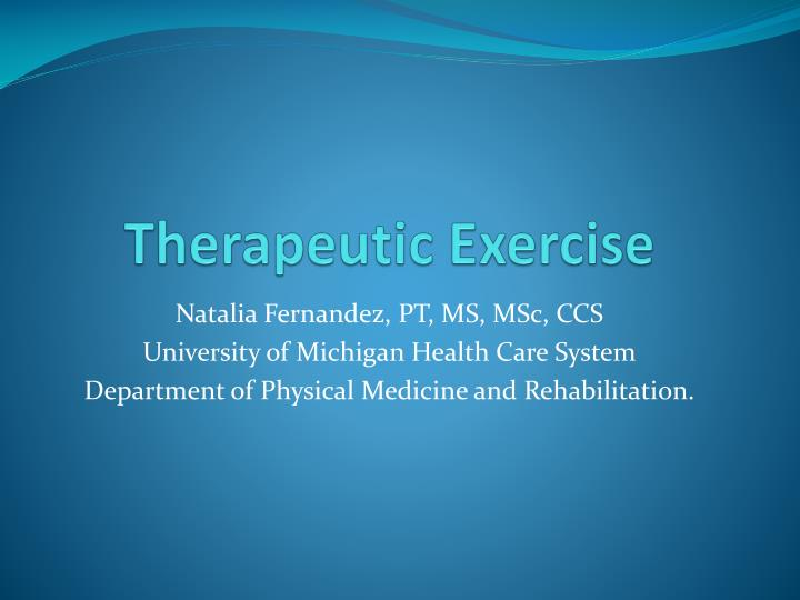 therapeutic exercise n.